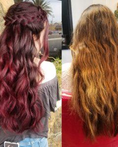 Burgundy Balayage on Dark Hairstyles