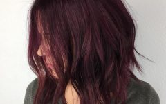 Burgundy Bob Hairstyles With Long Layers