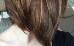 Perfectly Angled Caramel Bob Haircuts