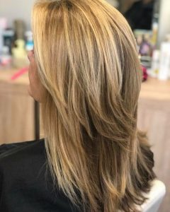 Long Brown Shag Hairstyles With Blonde Highlights