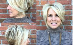 Chic Blonde Pixie Bob Hairstyles for Women Over 50
