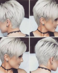 Gray Pixie Hairstyles for Thick Hair
