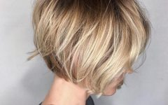 Dark Blonde Rounded Jaw-length Bob Haircuts