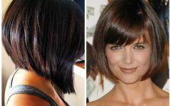 Round Bob Hairstyles with Front Bang