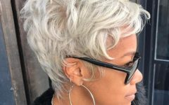 African-american Messy Ashy Pixie Haircuts