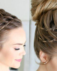 High Waterfall Braid Hairstyles