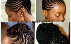 Cornrow Updo Hairstyles for Black Women