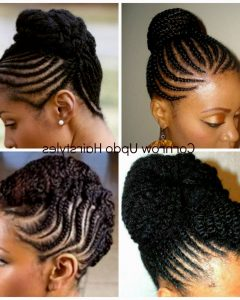 Cornrow Updo Hairstyles For Black Women