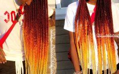 Colorful Cornrows Under Braid Hairstyles