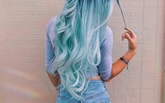 Cotton Candy Colors Blend Mermaid Braid Hairstyles