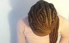 Criss-crossed Braids with Feed-in Cornrows