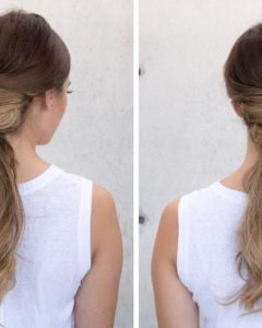 Criss-Cross Side Ponytails