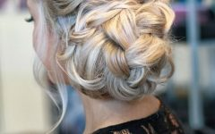 Braid and Fluffy Bun Prom Hairstyles