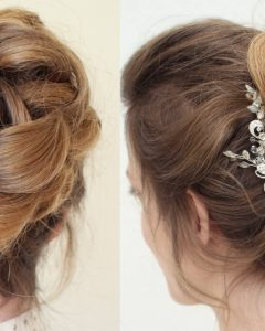 Curly Bun Updo Hairstyles
