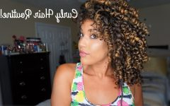 Curly Hairstyles with Shine