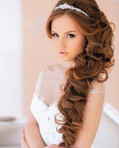 Wedding Updos For Long Hair With Tiara
