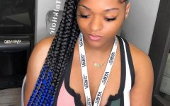 Cornrow Ombre Ponytail Micro Braid Hairstyles