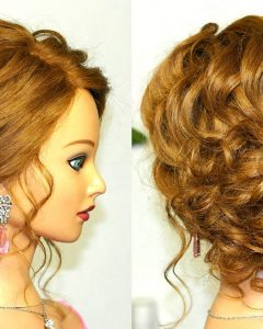 Curly Medium Hairstyles for Prom