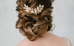Embellished Twisted Bun for Brides