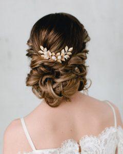 Embellished Twisted Bun For Brides