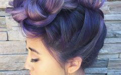 Extravagant Purple Mohawk Hairstyles