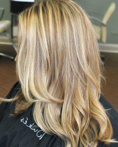 Light Golden Blonde With Platinum Highlights