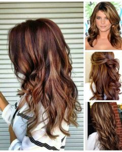 Medium Haircuts With Red And Blonde Highlights