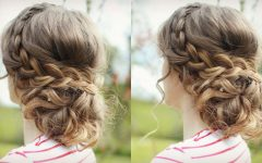 Messy Braided Prom Updos