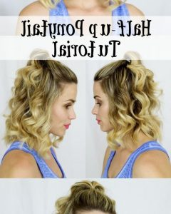 Midi Half Up Half Down Ponytail Hairstyles
