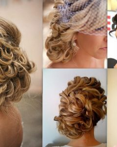 Side Bun Prom Hairstyles with Soft Curls