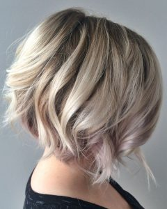 Textured Platinum Blonde Bob Hairstyles