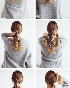 Twisted And Tousled Ponytail Hairstyles