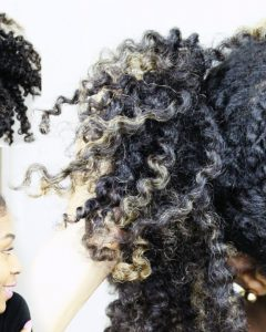 Twisted Front Curly Side Ponytail Hairstyles