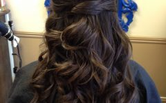 Twists and Curls in Bridal Half Up Bridal Hairstyles