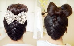 Two French Braid Hairstyles with a Sock Bun