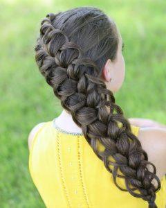 Diagonal French Braid Hairstyles