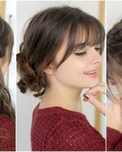 Updos For Long Hair With Bangs