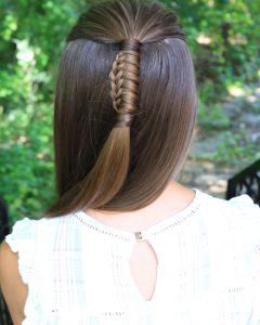 Reverse Braid And Side Ponytail