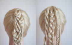 Intricate Rope Braid Ponytail Hairstyles