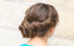 Twisted And Curled Low Prom Updos