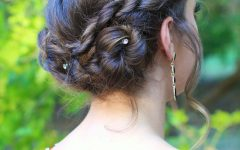 Rope Twist Updo Hairstyles with Accessories
