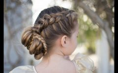 Updo with Forward Braided Bun