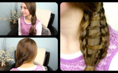 Ladder Braid Side Ponytail Hairstyles