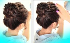 Plaits Bun Wedding Hairstyles