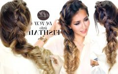 Messy Side Fishtail Braided Hairstyles