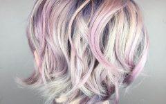 Mid-length Multi-colored Shag Haircuts