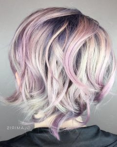 Mid-Length Multi-Colored Shag Haircuts