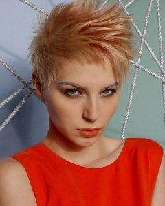 Spiky Short Hairstyles with Undercut