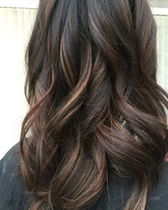 Curly Dark Brown Bob Hairstyles with Partial Balayage
