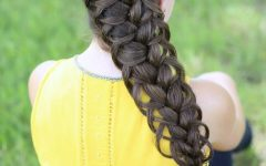 Diagonal Two French Braid Hairstyles